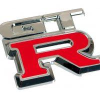 Emblema 3D cromato bicolore GTR
