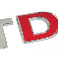 Emblema 3D cromato bicolore TDI