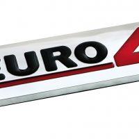 Emblema Antinquinamento 3D cromato 100x25 mm Euro 4