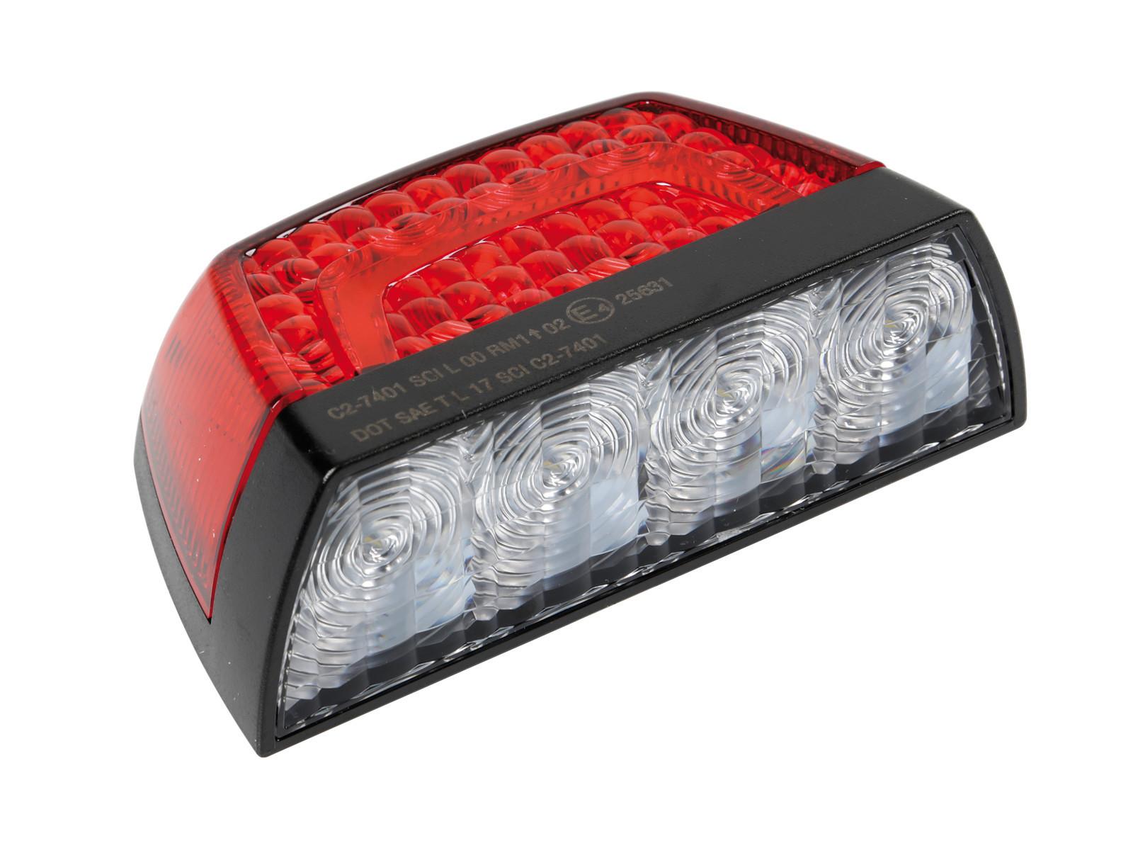 Fanale posteriore a led illuminazione targa e luce di posizione