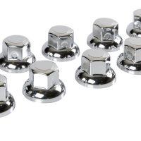 testa tonda Ø 33 mm Set 10 copribulloni in acciaio